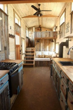 This Is The SimBLISSity 24′ + 7′ JJ's Place, Which I Call Rustic Elegance. The Custom Home Sits On A 24′ Gooseneck With A 7′ Deck - Tinyhousetalk