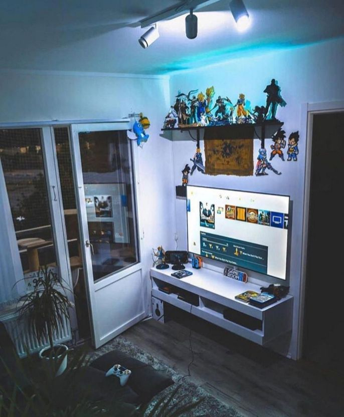 Video Game Room Decoration Ideas ☼ Via 68.allpin #Gaming Room Setup #Quarto Gamer #Playstation Room #xbox Room