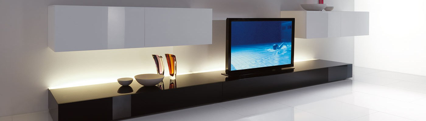 minimalist tv unit interior era