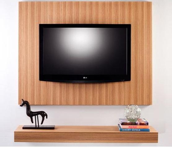 Muebles para montar la TV en la pared con estilo  Interiores