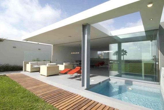 Casa de playa  La Isla por Juan Carlos Doblado  Interiores