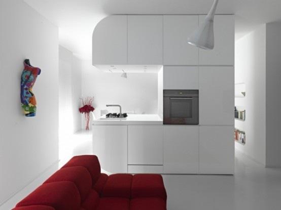 Apartamento Futurista por Romolo Stanco  Interiores
