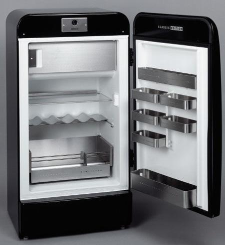 Refrigerador retro de la marca BOSCH  Interiores