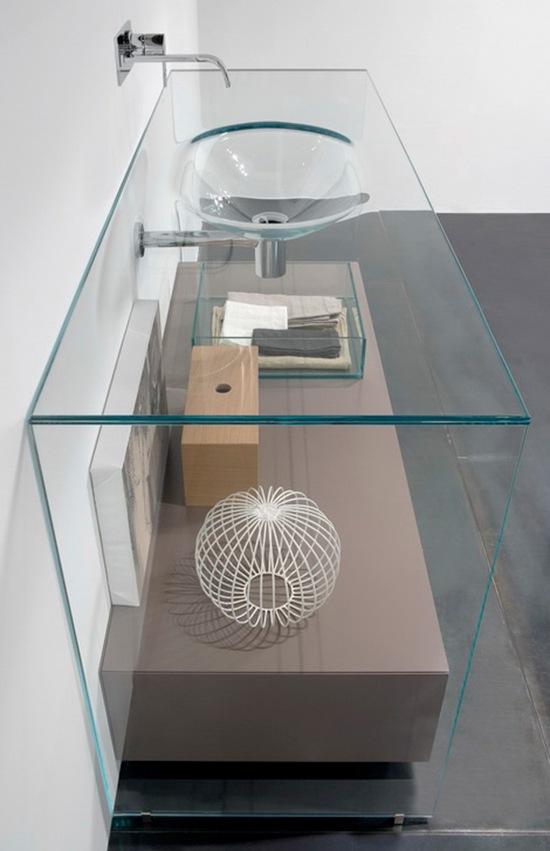 Lavamanos de cristal por Antonio Lupi  Interiores