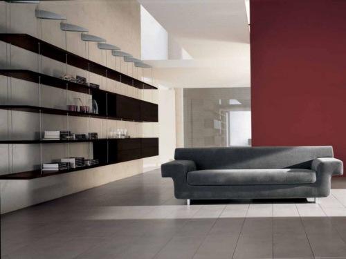 Librero para las modernas salas de estar  Interiores