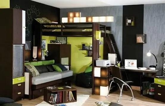 Gana espacio en tu cuarto con una cama alta  Interiores