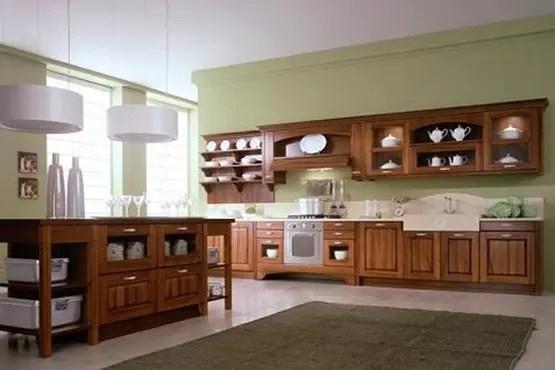 Cocinas con muebles de madera  Interiores