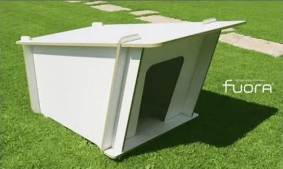 casa para perro minimalista