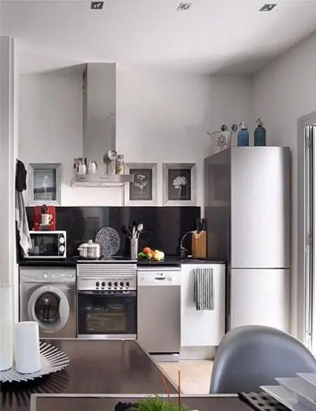 Decoracin de pequeos espacios elegantes y confortables en color gris  Interiores