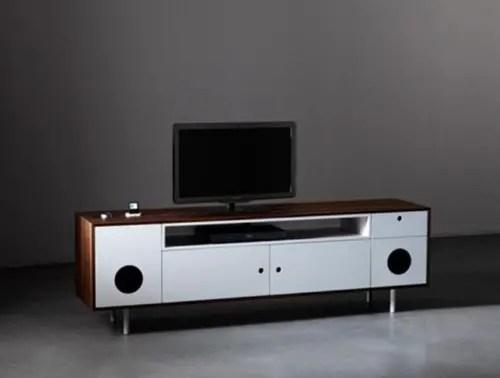 Mueble para TV con bocinas incluidas y diseo retro  Interiores