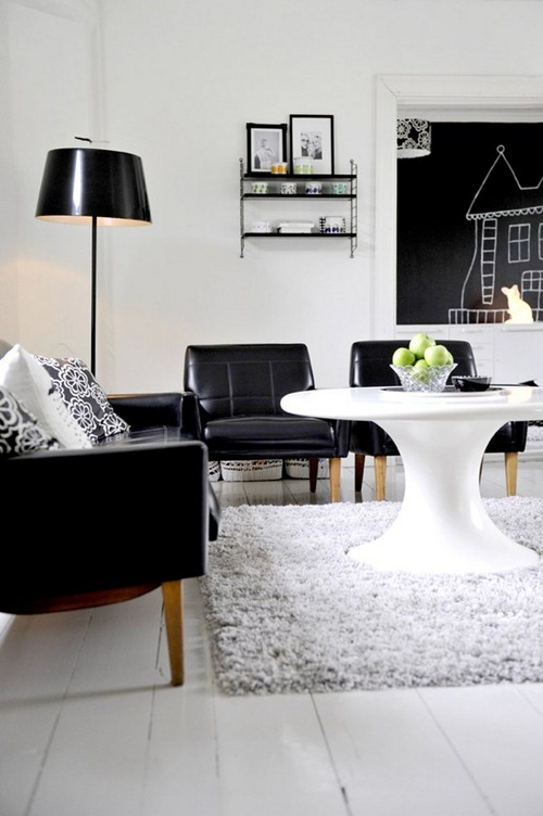 Diseos Contemporneos en Blanco y Negro  Interiores
