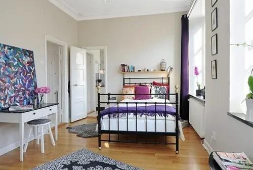 Apartamento de dos habitaciones con decorado y estilo