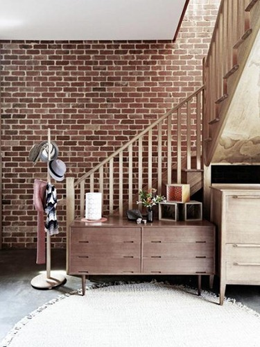 Decoracin de interiores con paredes de ladrillo  Interiores