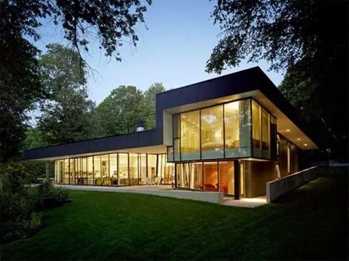 Casas Modernistas de Cristal  Interiores