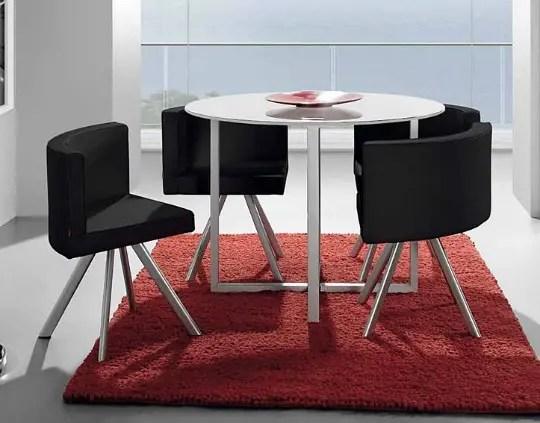 Mesa comedor ideal para departamentos pequeos  Interiores