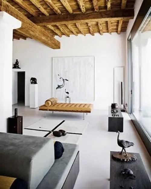 Casa Minimalista en Blanco Gris y Negro  Interiores
