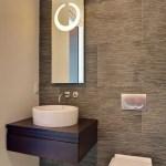 44 ideas para decorar y organizar baños pequeños (38)