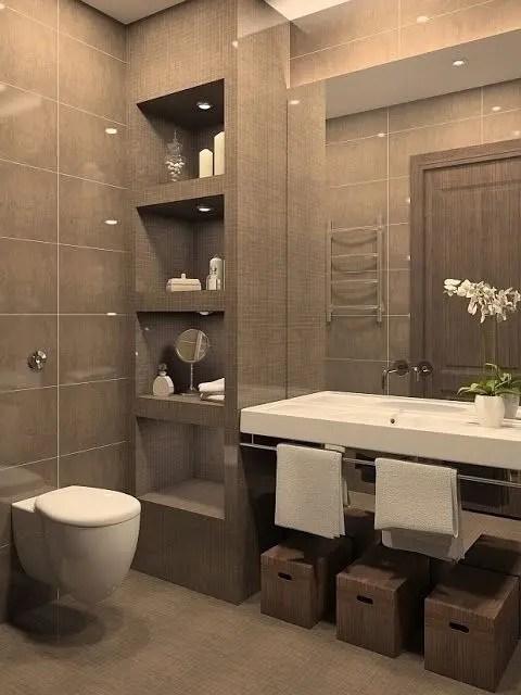 44 ideas para decorar y organizar baos pequeos  Interiores