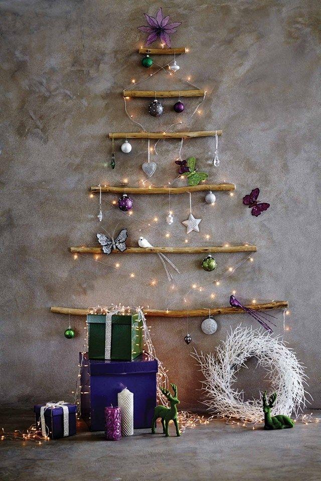 Disea un rbol Navideo en la pared   Interiores Chic  Blog de decoracin nrdica