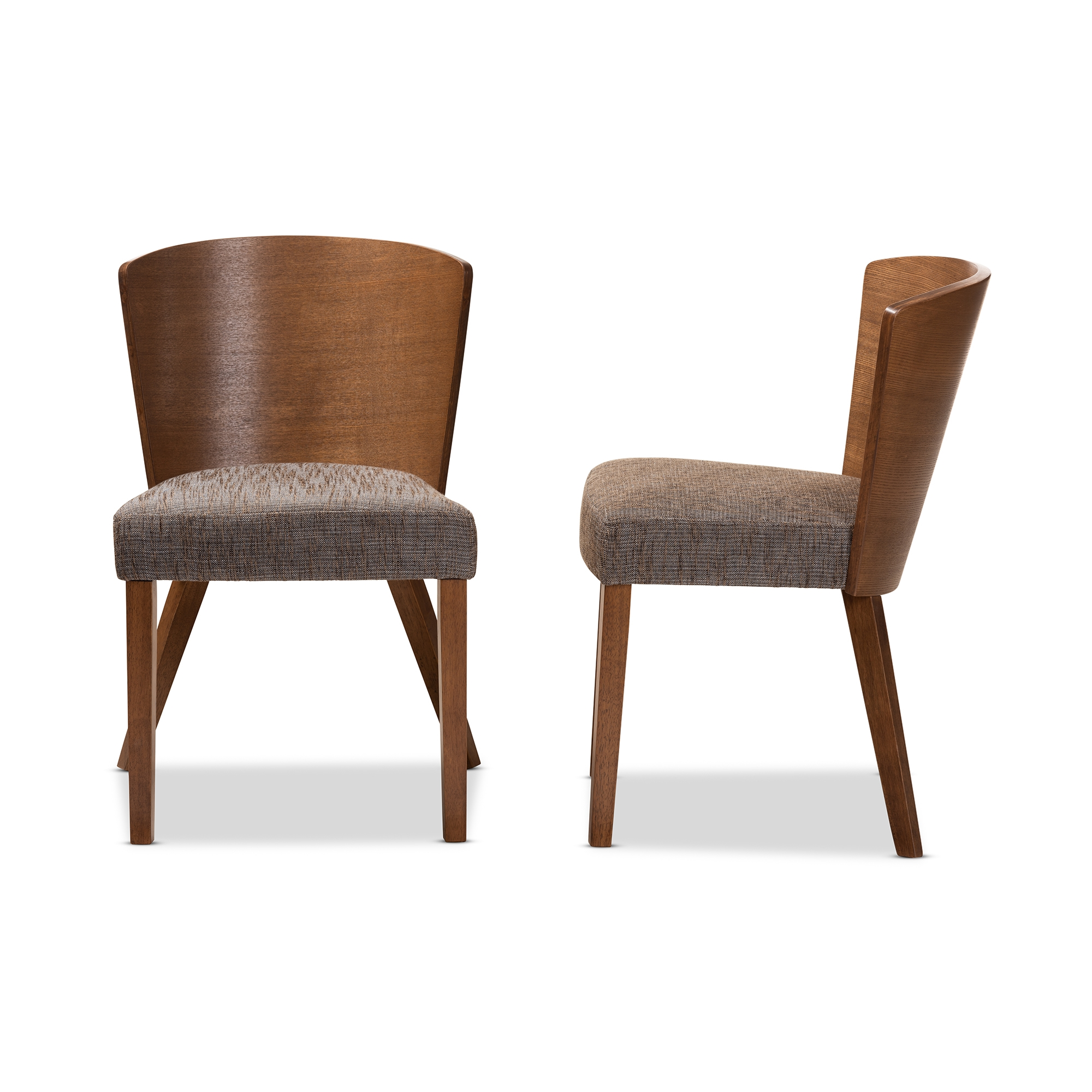 Dining Chair Set Of 2 Baxton Studio Sparrow Brown Wood Modern Dining Chair Set Of 2