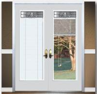 Patio Door With Internal Blinds. Flexible Patio Door