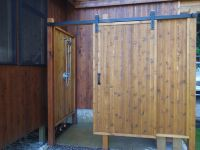 Outdoor shower door - 16 great places to clean up after ...