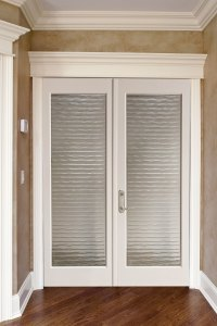 French doors interior frosted glass - an ideal material ...