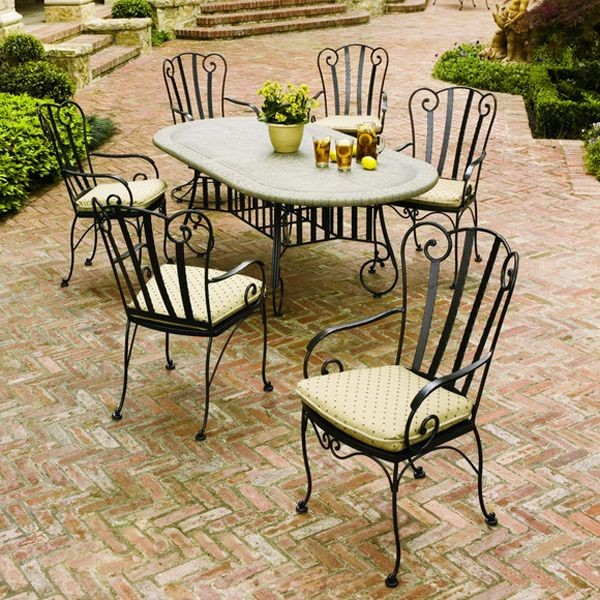 wrought iron patio furniture dining sets Choosing a suitable wrought outdoor dining sets iron | Interior & Exterior Ideas