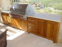 Outdoor kitchen wood cabinets - your best and easy outdoor ...