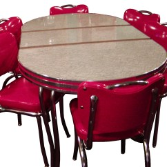 Vintage Table And Chairs Red Leather Club Chair Recliner Retro Kitchen When Become A