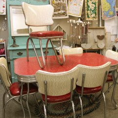 Red Kitchen Table Set Tables Sets Under 200 Retro Chairs When Become A