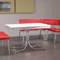 Red Kitchen Table Set Exhaust Fan Motor Retro Chairs When Become A