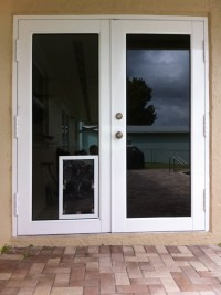 Sliding Glass Doors With Dog Door Built In. Petsafe ...