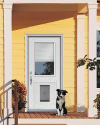 Door with built in dog door