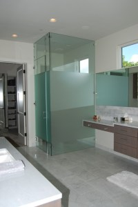 Glass wall dividers bathroom