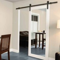Mirrored sliding closet door lock