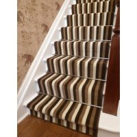 Brown Striped Carpet Runner - Carpet Vidalondon