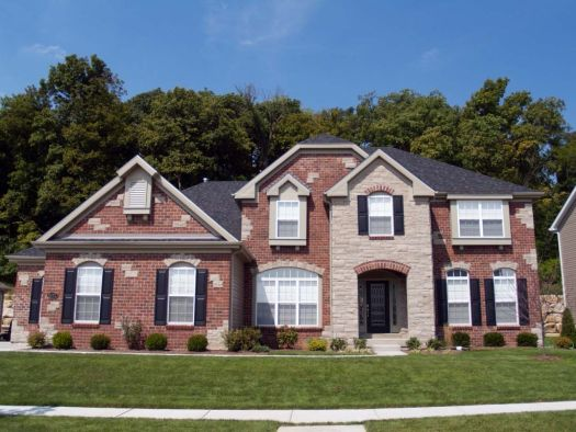 exterior paint colors that go with red brick traditional