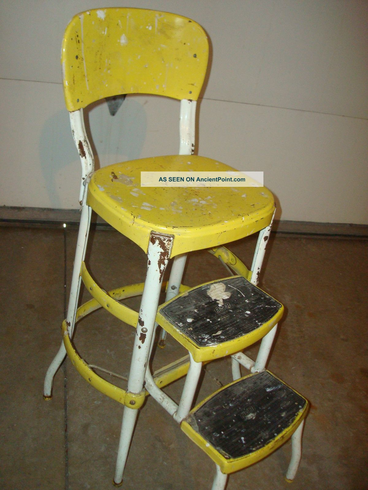 old fashioned kitchen chair step stool vintage curtains stools