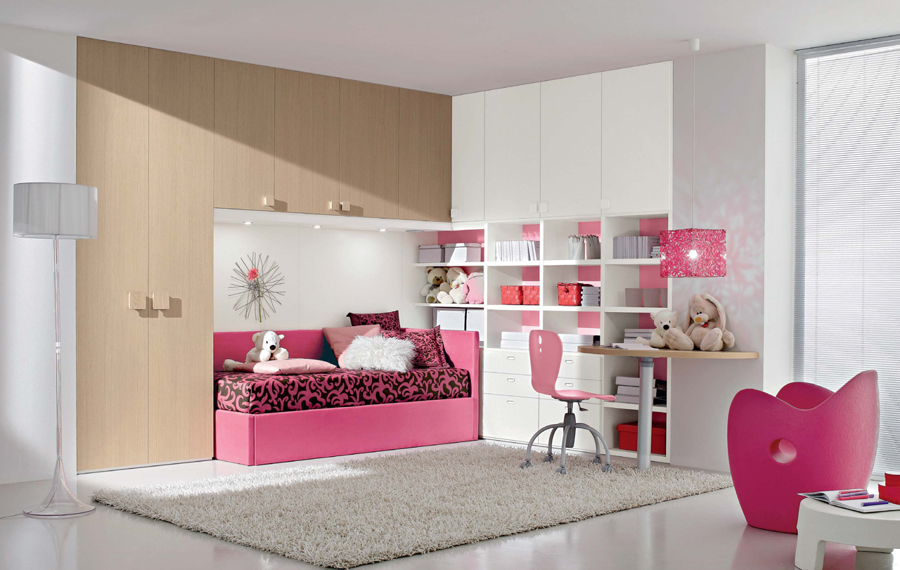 Interior Exterior Plan  Ideal Pink Bedroom Idea For Young