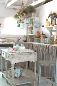 25 Cute Shabby Chic Kitchen Design Ideas