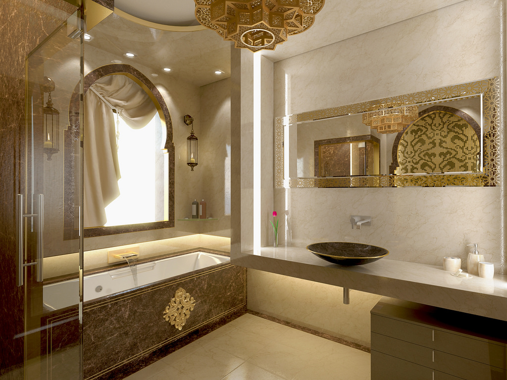 47 Inspirational Moroccan Bathroom Design Ideas  Interior God