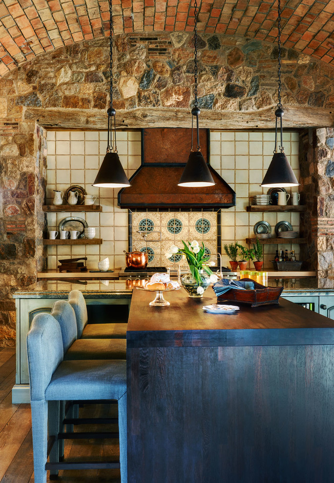 53 Impressive Kitchens With Brick Walls and Ceilings  Interior God