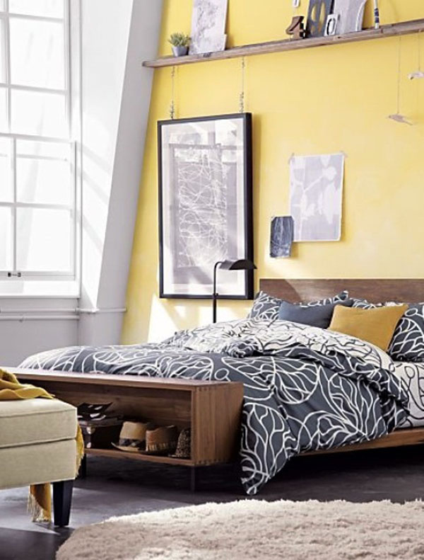 33 Sunny Yellow Accents Bedroom Ideas Interior God