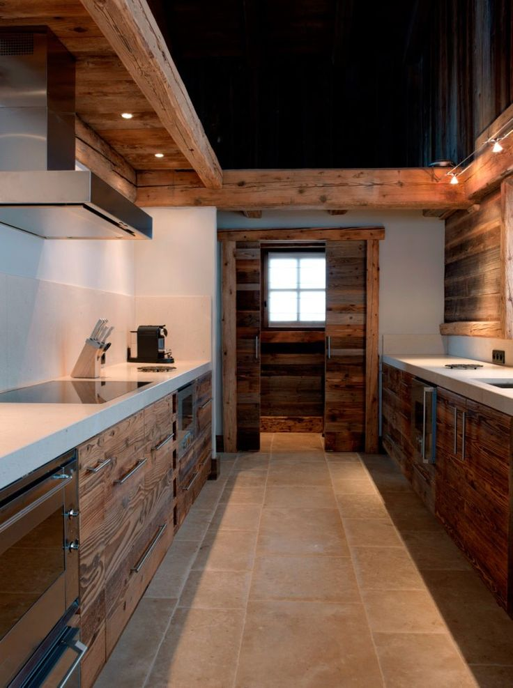 natural wood kitchen cabinets wall signs 32 fabulous chalet designs to get inspired ...