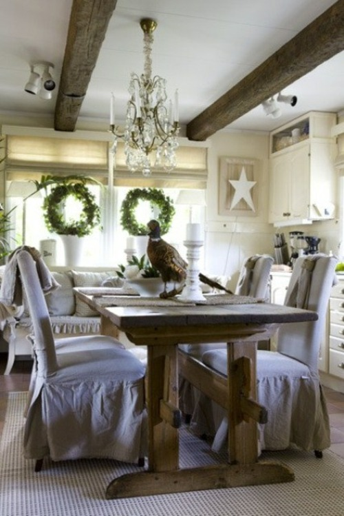 21 Cool Rustic Christmas Table Settings  Interior God