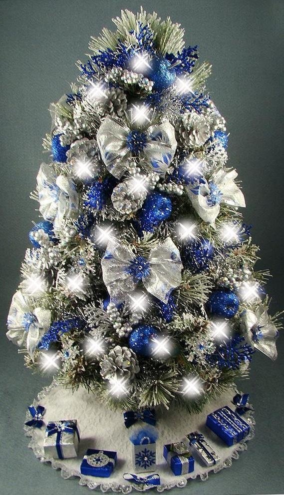 25 Silver And Blue Decorations Ideas For Christmas