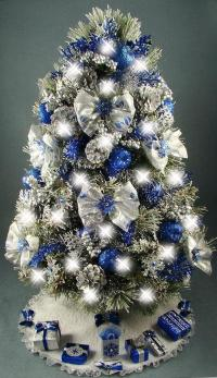 25 Silver And Blue Decorations Ideas For Christmas ...
