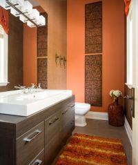 27 Orange Bathroom Design Ideas For Your Home | Interior God