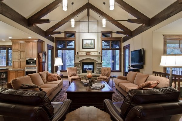 living room lighting ideas cathedral ceiling full furniture sets 23 designs with vaulted to get inspired